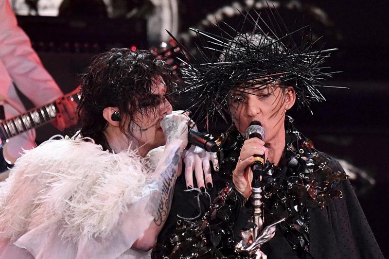 Rosario Fiorello e il cantante italiano Achille Lauro al Festival della canzone italiana di Sanremo, Sanremo, Italia, 05 marzo 2021 - ANSA/ETTORE FERRARI