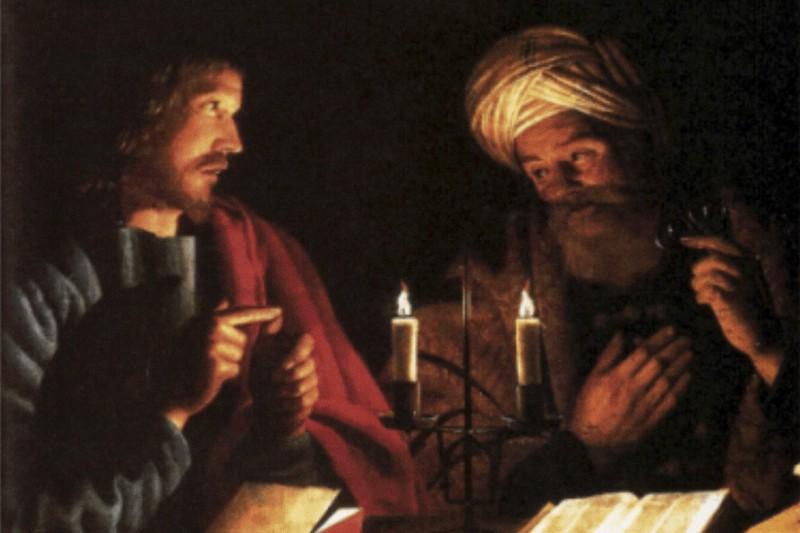 Gesù e Nicodemo, di Crijn Hendricksz Volmarijn, pittore olandese del XVII secolo.