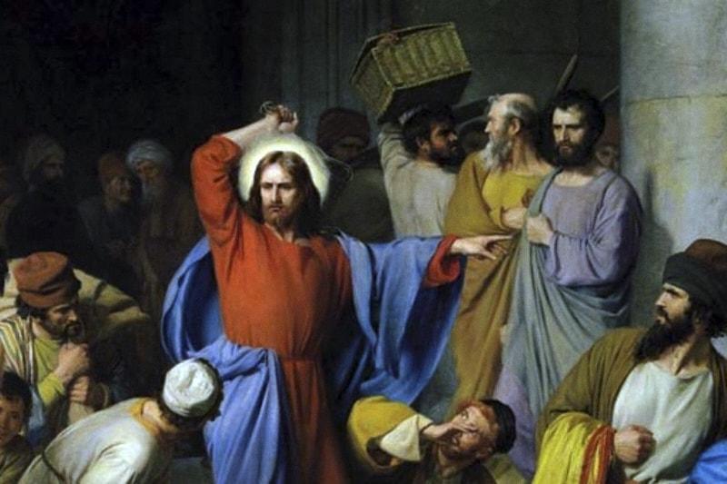 Gesù scaccia cambiavalute dal tempio (Di Carl Heinrich Bloch)