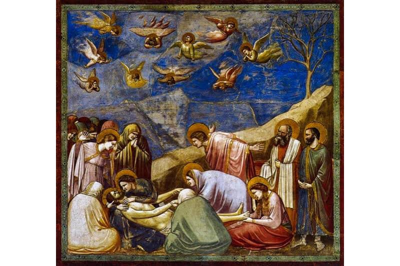 Giotto Compianto sul Cristo 1304-1306 ca. Cappella Scrovegni PD