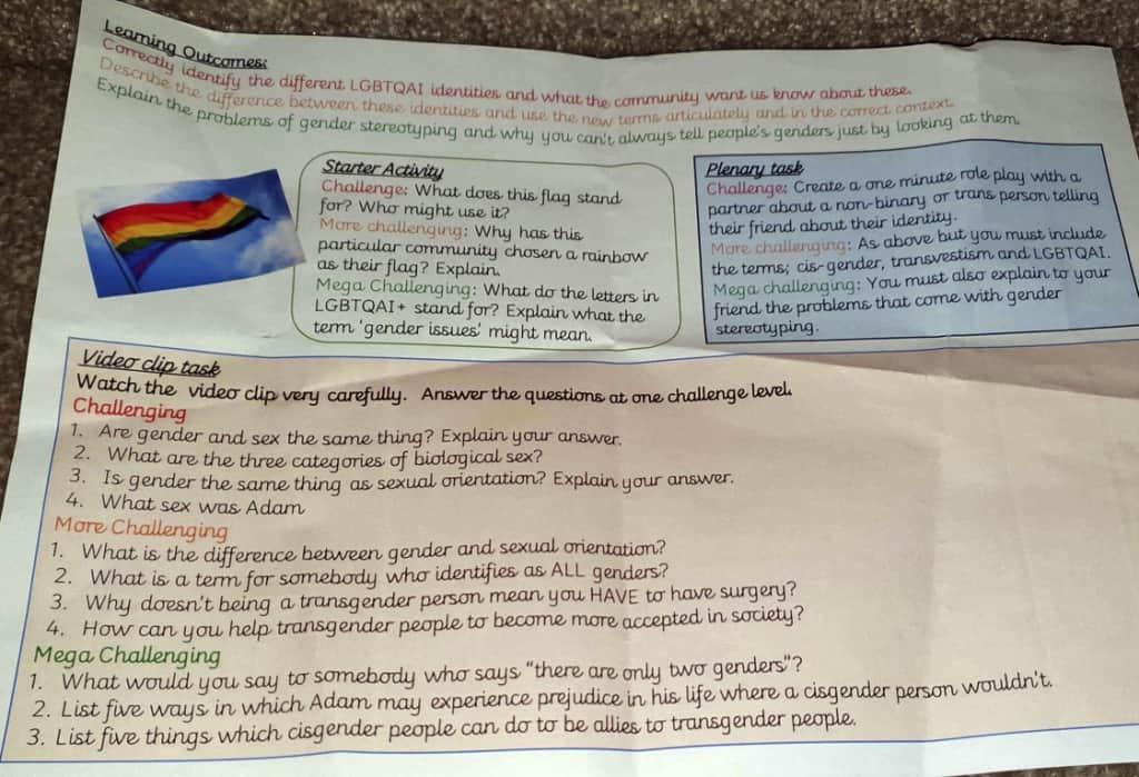 Indottrinamento LGBT a scuola in Gran Bretagna