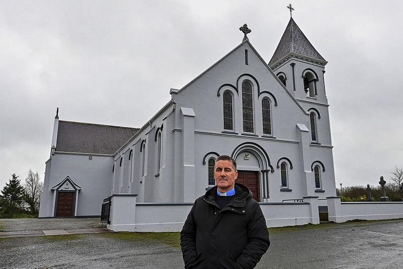 Padre P J Hughes PP of Mullahoran, Irlanda