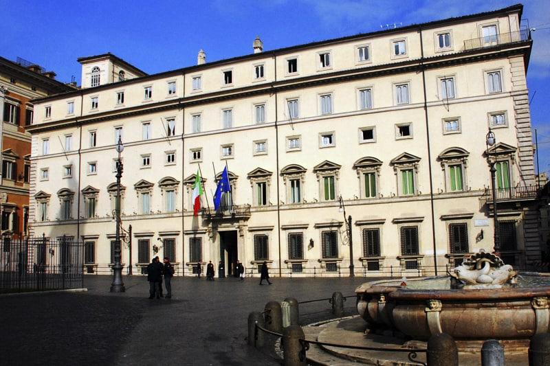 Palazzo Chigi, sede del Governo italiano