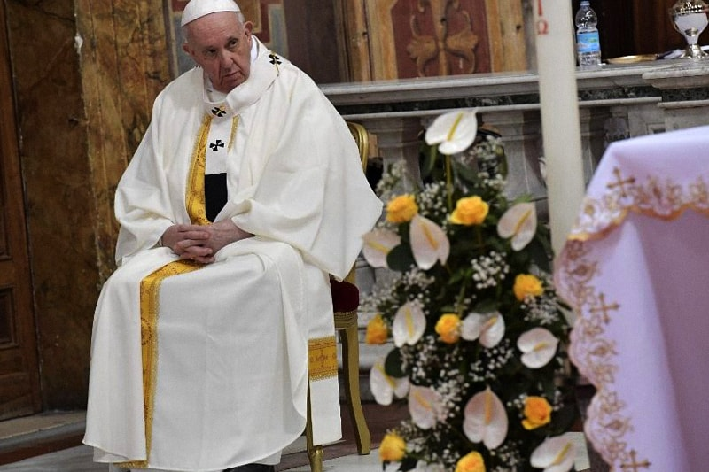 Papa Francesco al Santuario della Divina Misericordia 11 aprile 2021