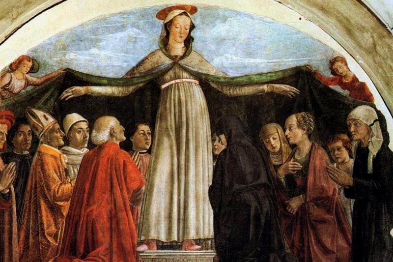 Domenico Ghirlandaio - Madonna della Misericordia -Chiesa di Ognissanti a Firenze