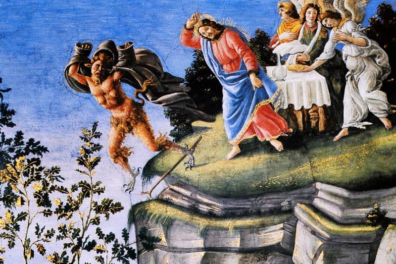 Gesù scaccia satana il diavolo