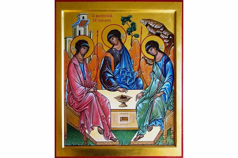 L'ospitalità di Abramo  (SS. Trinità) - Opera di Enrico Benedetti
