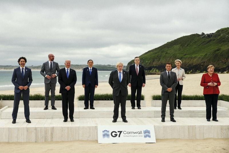 Summit del G7 in Cornovaglia dall'11 al 13 giugno 2021. EPA/HOLLIE ADAMS/POOL