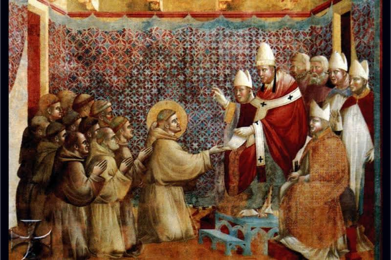 Onorio III approva la Regola di San-Francesco – Giotto, Basilica Superiore Assisi