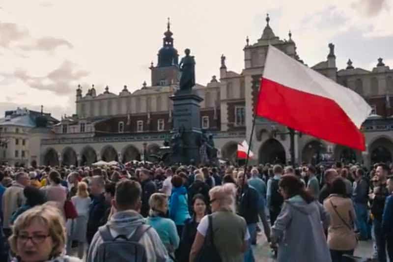 """Polonia, 13 Giugno 2021, Cracovia la """"passeggiata della libertà"""""""