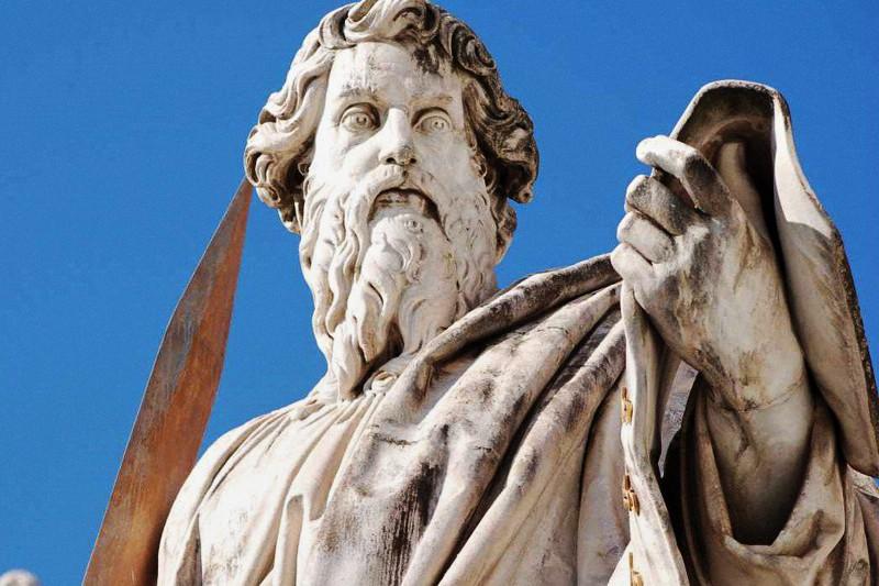 San Paolo, statua in Piazza San Pietro Roma