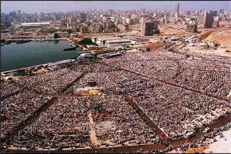 Messa di Giovanni Paolo II a Beirut 11 maggio 1997 - photo AL SAFIR-AFP via Getty Images