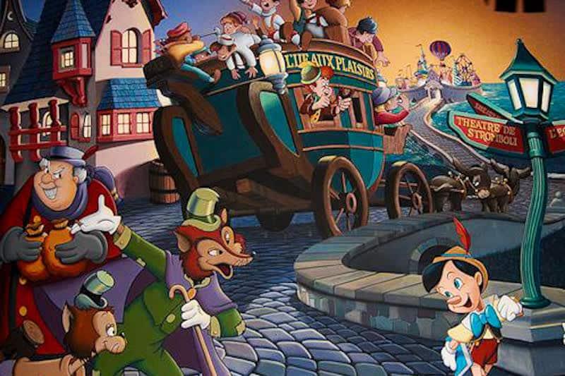 paese dei balocchi Pinocchio il gatto e la volpe