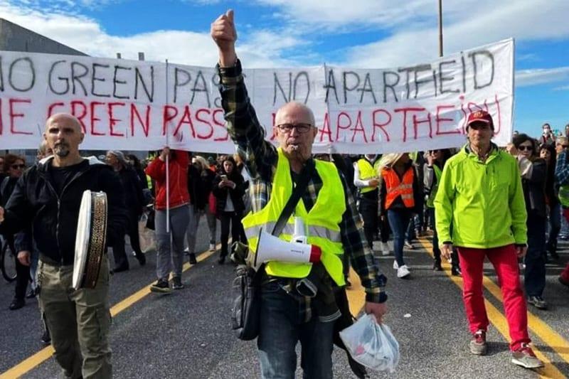Manifestazione No green pass -Trieste