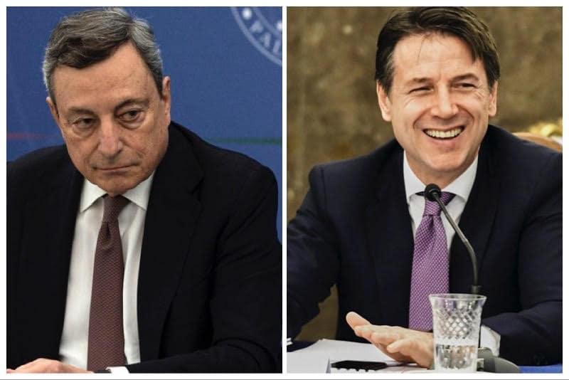 Mario Draghi - Giuseppe Conte