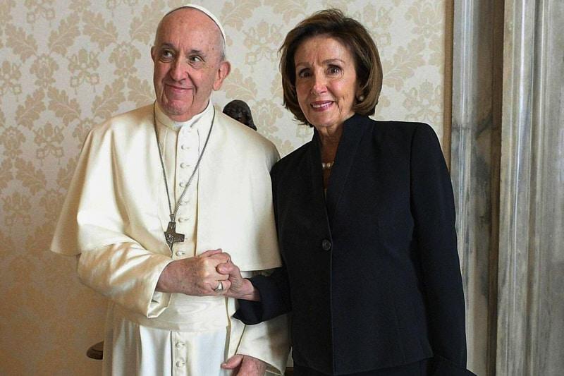 Papa Francesco e Nancy Pelosi