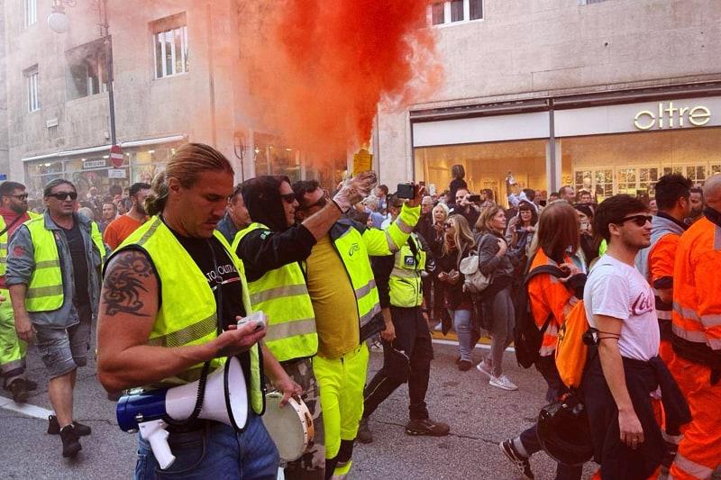 Trieste manifestazione No green pass