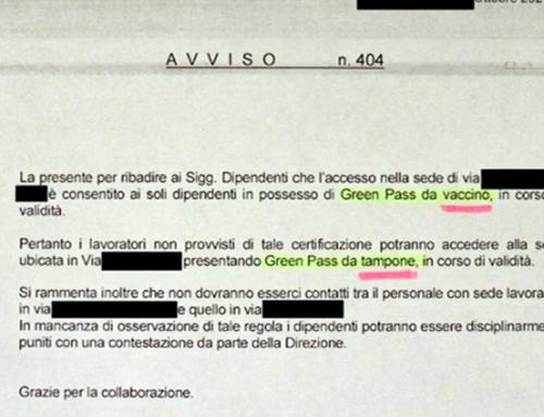 Green pass, dipendenti non vaccinati relegati in un deposito tra escrementi e rottami. Vergogna! Vergogna!