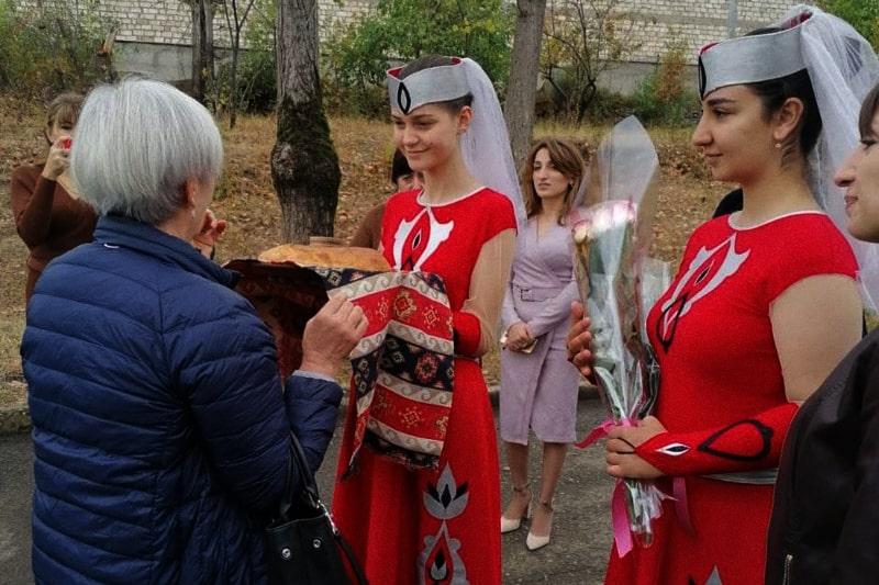 Ambrogina Vismara in Sanvito all'arrivo in Nagorno-Karabakh settembre 2021