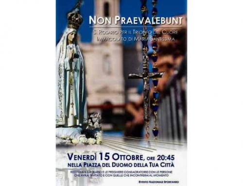 Non prevalebunt: maratona di preghiera per il 15 ottobre